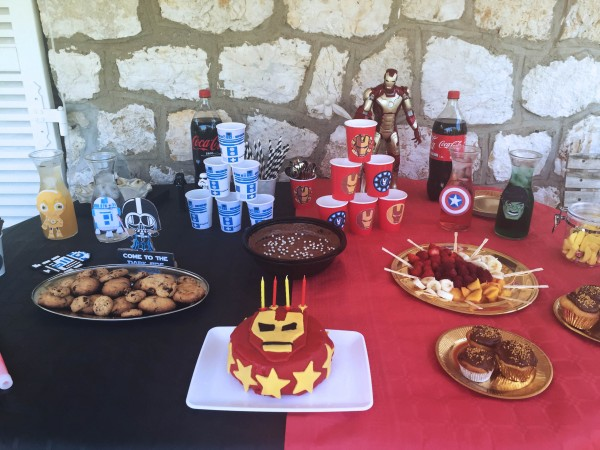 sweet table star wars et iron man