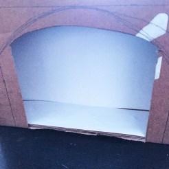 cheminée carton diy