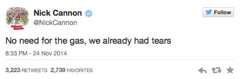 Nick Cannon Tweets about Ferguson