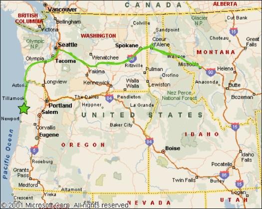 5_Oregon Coast_Map of NW