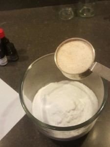 Pour in dry ingredients