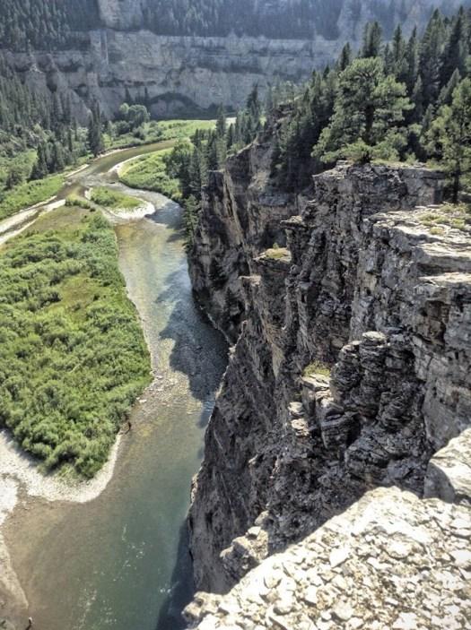 Limestone cliffs on Smith River