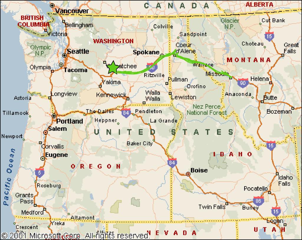 Map Sasquatch Sightings Oregon