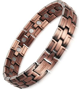 Rainso Elegant Pure Copper Magnetic Therapy Bracelet Bangle Pain Relief for Arthritis Wristband Adjustable