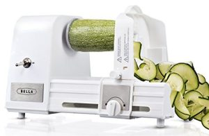 BELLA Hands-Free 4-in-1 Electric Spiralizer with Recipe Book, White