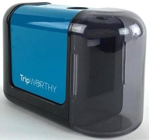 Electric Pencil Sharpener - Battery Operated (No Cord) - Ideal For No. 2 and Colored Pencils (Drawing, Coloring) - Small and Durable - Kid Friendly - Artist , Students , and Professionals