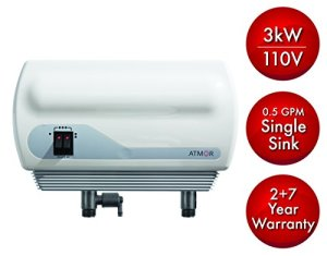 Atmor 3kw/110v SINGLE SINK 0.5 GPM Point-Of-Use Tankless Electric Instant Water Heater Including Pressure Relief Device and 0.5 GMP Sink Aerator, AT-900-03
