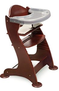Badger Basket Embassy Wood Baby High Chair with Tray, Cherry