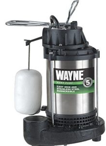 WAYNE CDU980E 3/4 HP Submersible Cast Iron and Stainless Steel Sump Pump With Integrated Vertical Float Switch