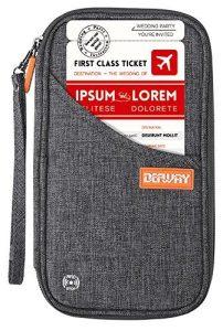 DEW Travel Wallet RFID Blocking Document Organizer Bag, Family Passport Holder