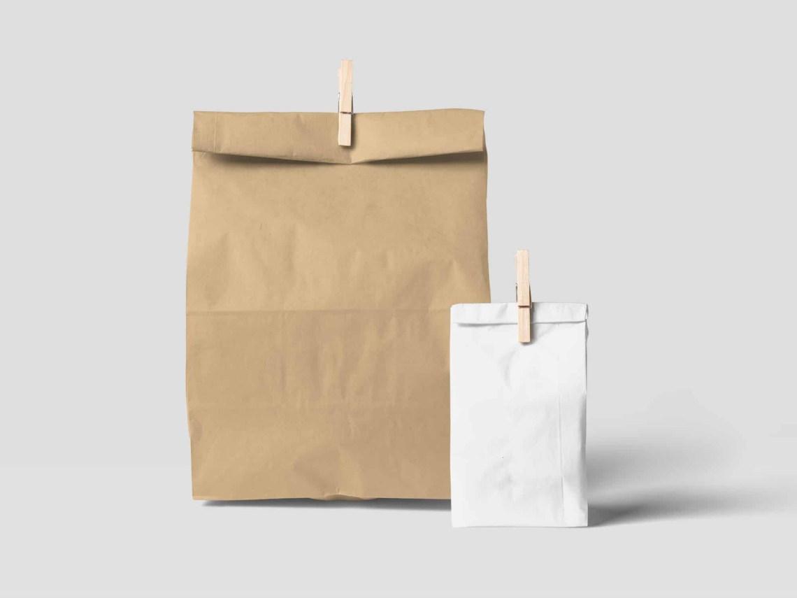 Download Free Paper Bag Mockup (PSD)