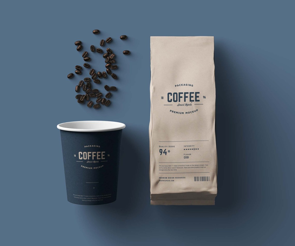 Download Free Coffee Package Mockup
