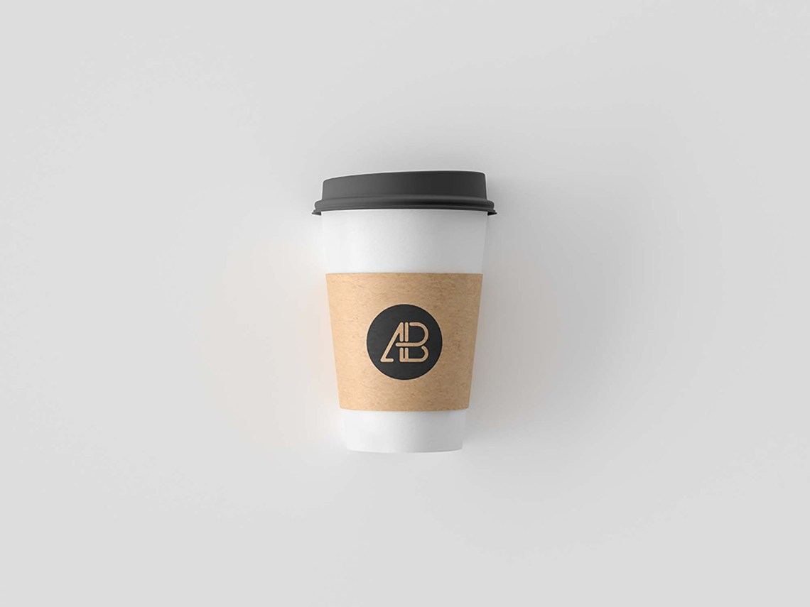 Download Simple Free Coffee Cup Mockup (PSD)