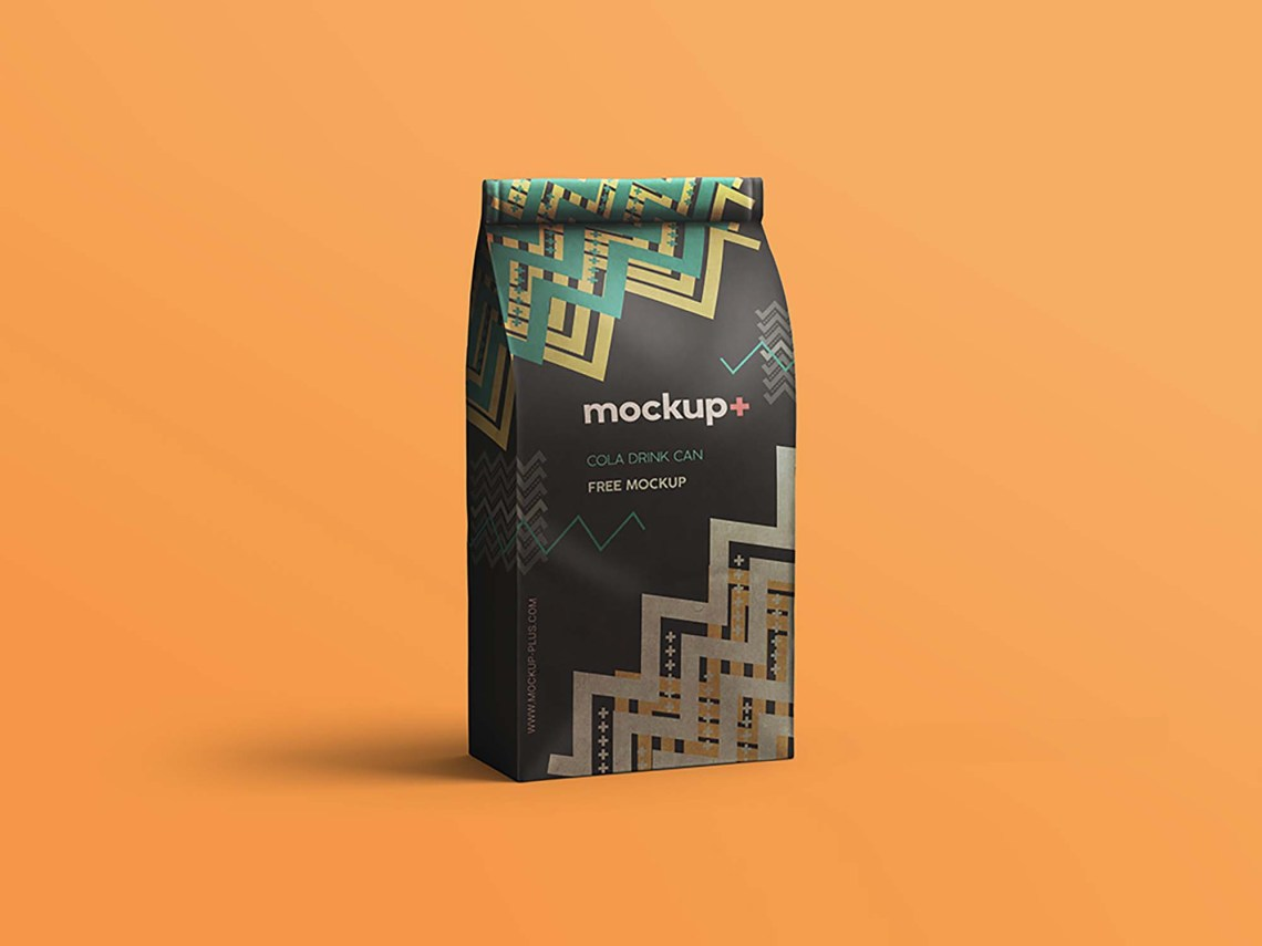 Download Free Coffee Bag Mockup (PSD)