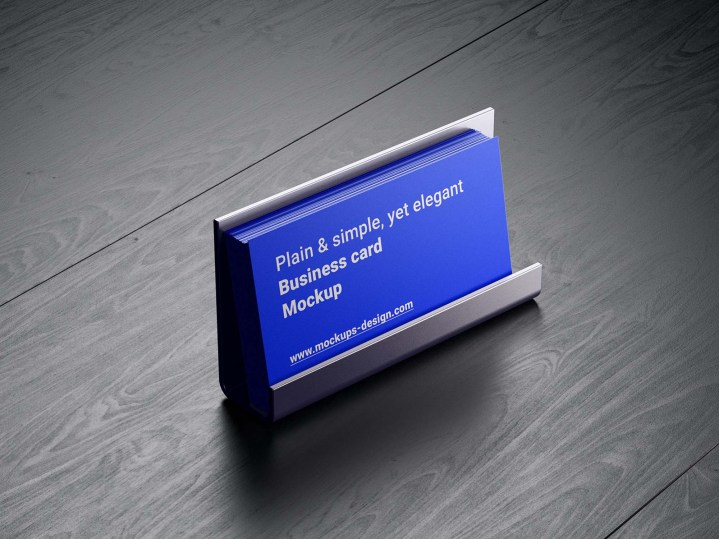 Business Cards in Holder Mockup