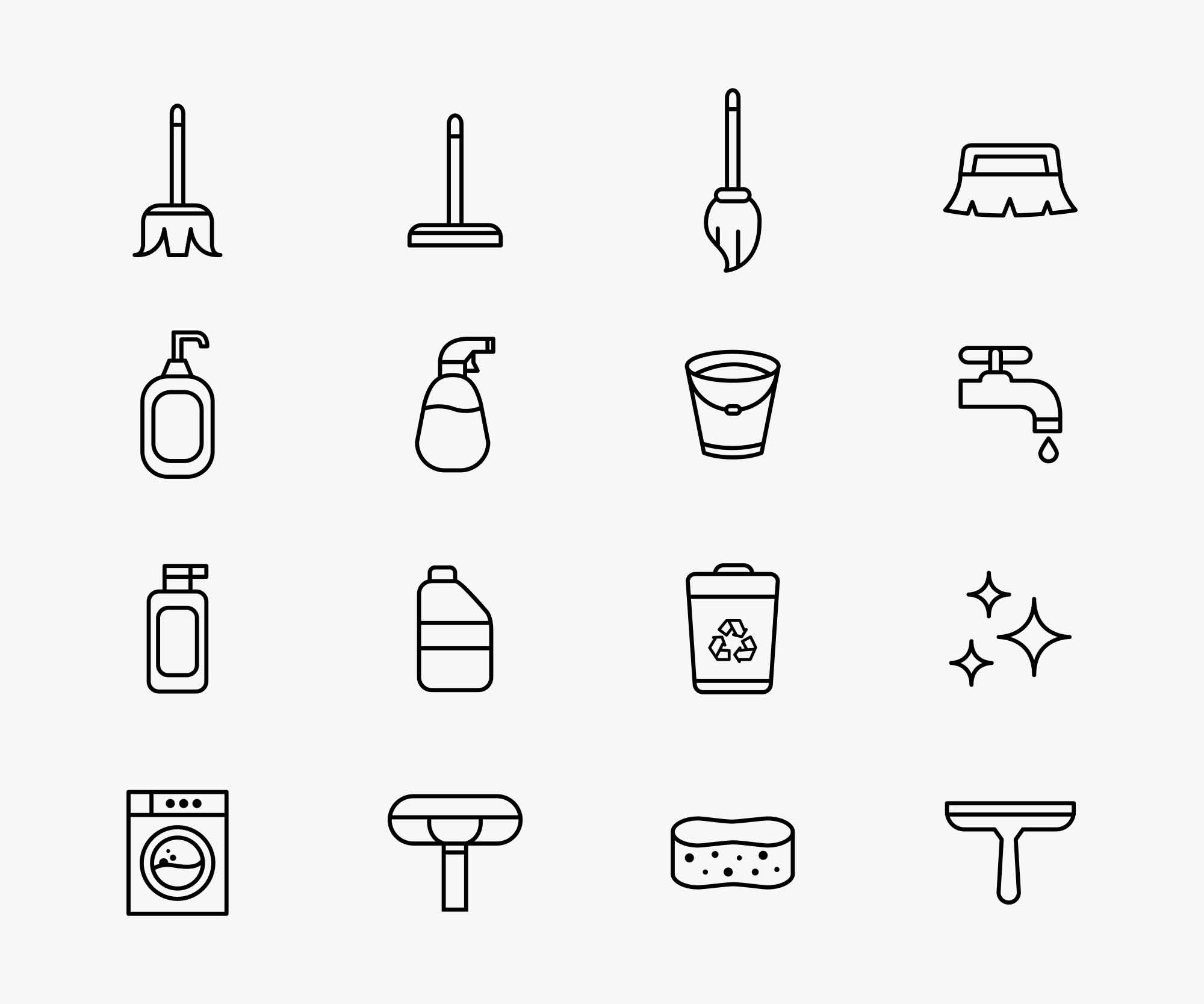 Free Cleaning Vector Icons Ai