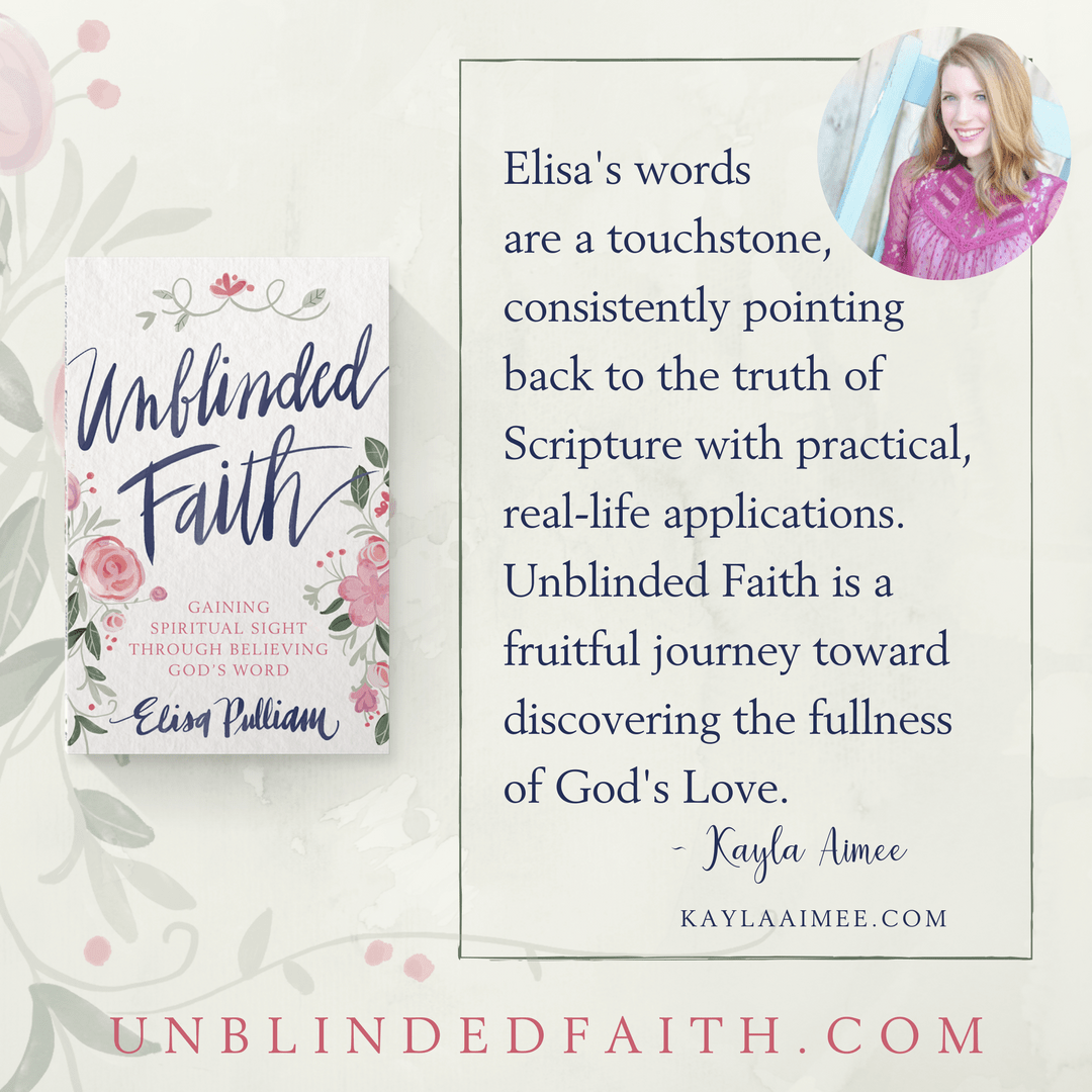 Elisa's words are a touchstone, consistently pointing back to the truth of  Scripture with practical