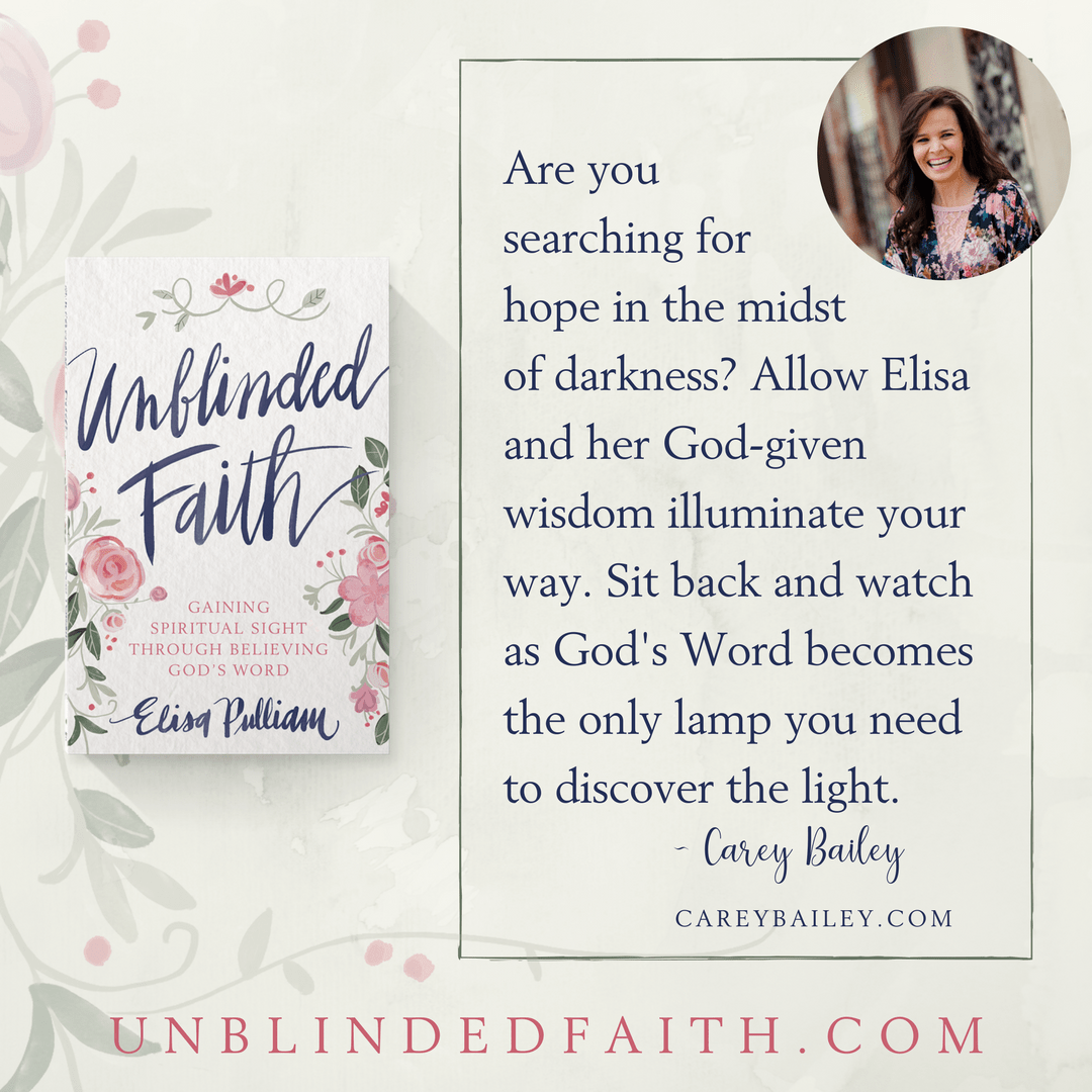 Are you searching for hope in the midst of darkness? Allow Elisa and her God-given wisdom illuminate your way. Sit back and watch as God's Word becomes the only lamp you need to discover the light. - Carey Bailey