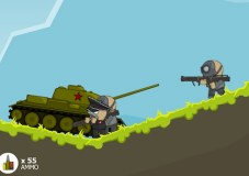 Russian Tank vs Hitler Army