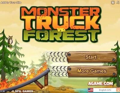 monster truck vs forest