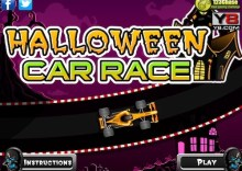 Halloween Car Race Game