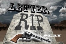 Letter RIP: Cowboy Shooting Game