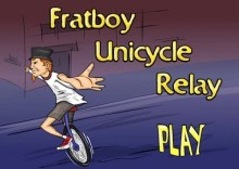 Frat Boy Unicycle Relay