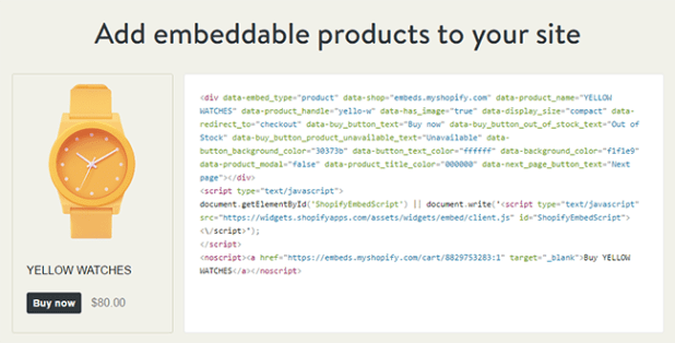 shopify-embed-code