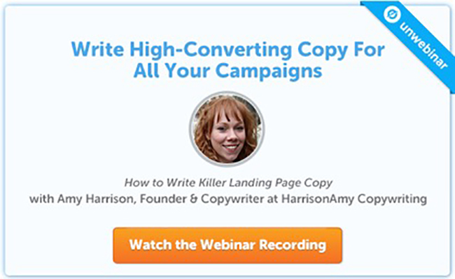 Copywriting webinar CTA