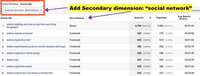 social-network-secondary-dimension