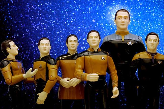 Image of Data Plastic figures from Startrek