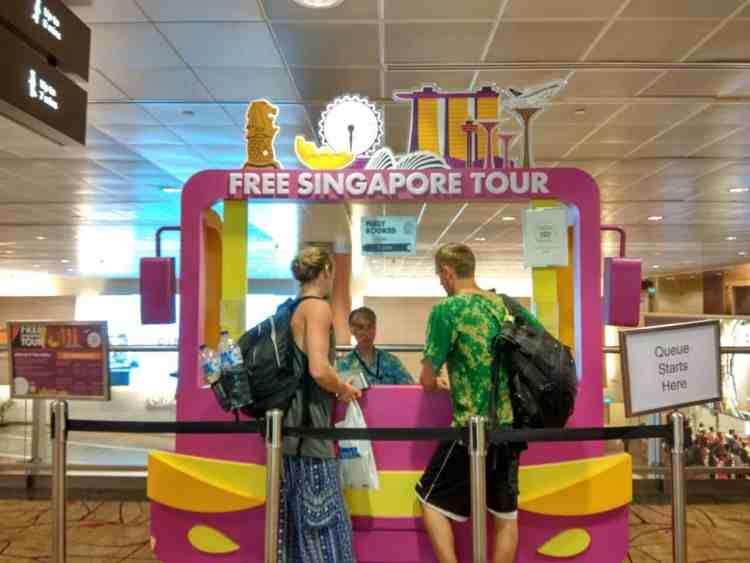 Free Tour Counter Singapore Changi Airport Layover