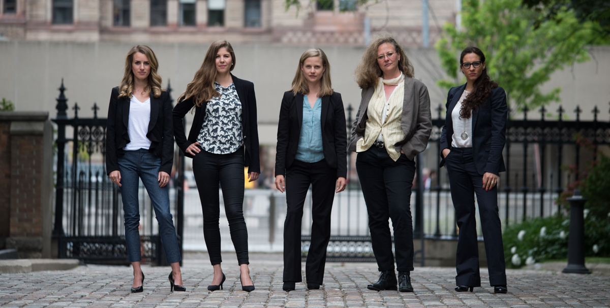 L-R: Camille Labchuk, Sophie Gaillard, Anna Pippus, Lesli Bisgould, Alanna Devine.