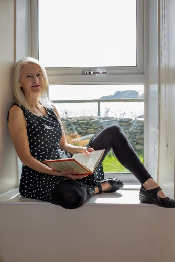 Rebecca Knowles, founder of Vegan Outreach Scotland, at her home. (Photo: Julia Fraser)