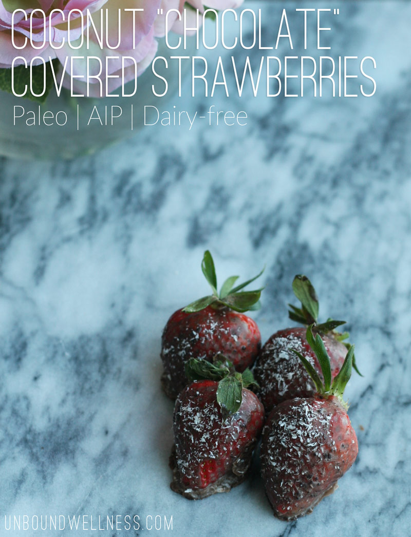 "Valentines Day Coconut ""Chocolate"" Covered Strawberries 