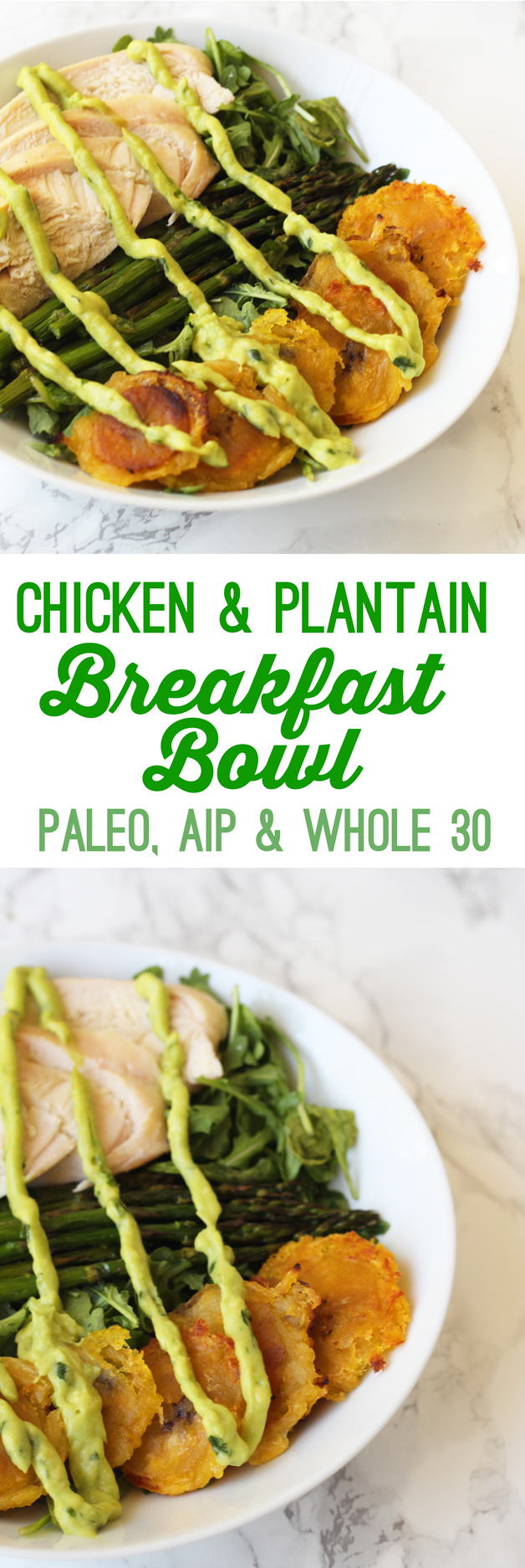 Chicken & Plantain Breakfast Bowl (Whole 30, AIP, Paleo)