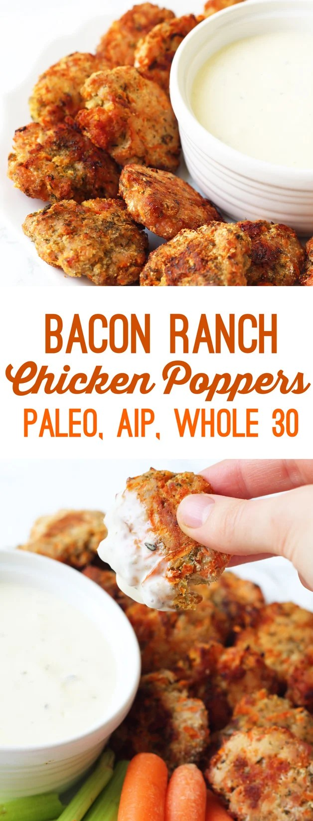 Bacon Ranch Chicken Poppers (Paleo, AIP, Whole 30)