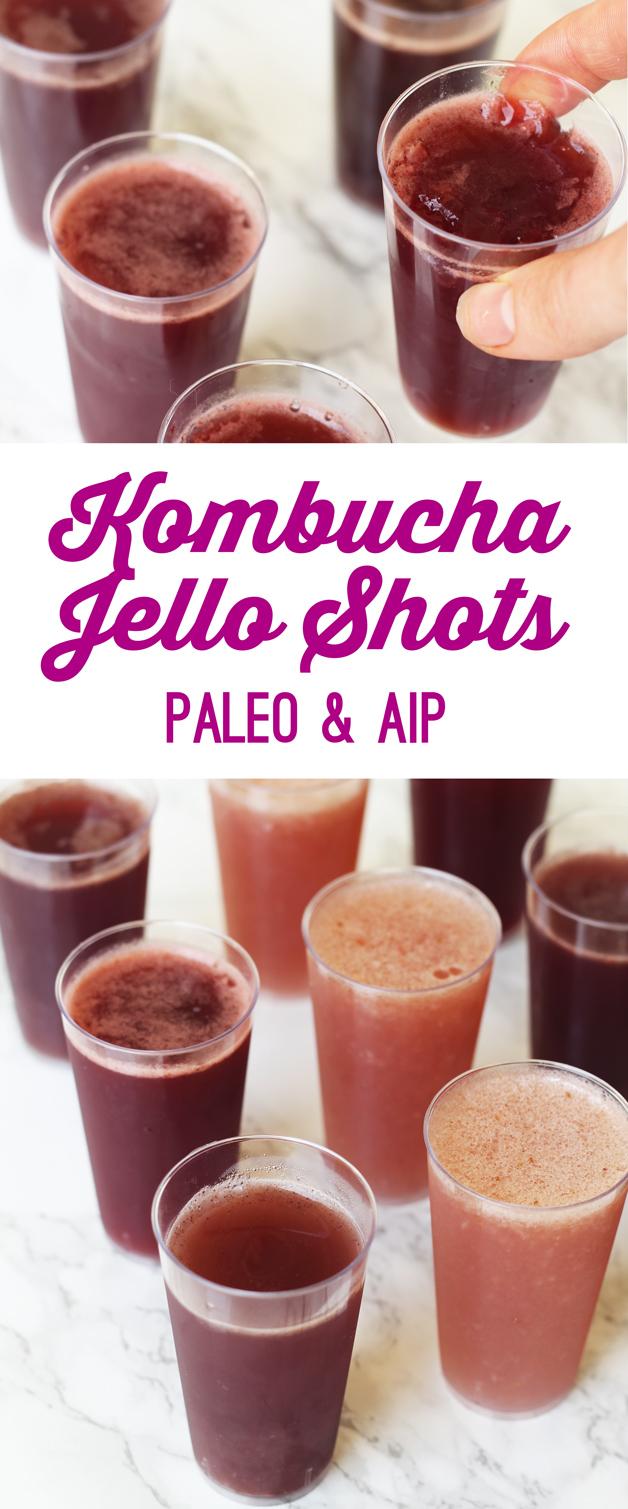Kombucha Jello Shots (Paleo, AIP)