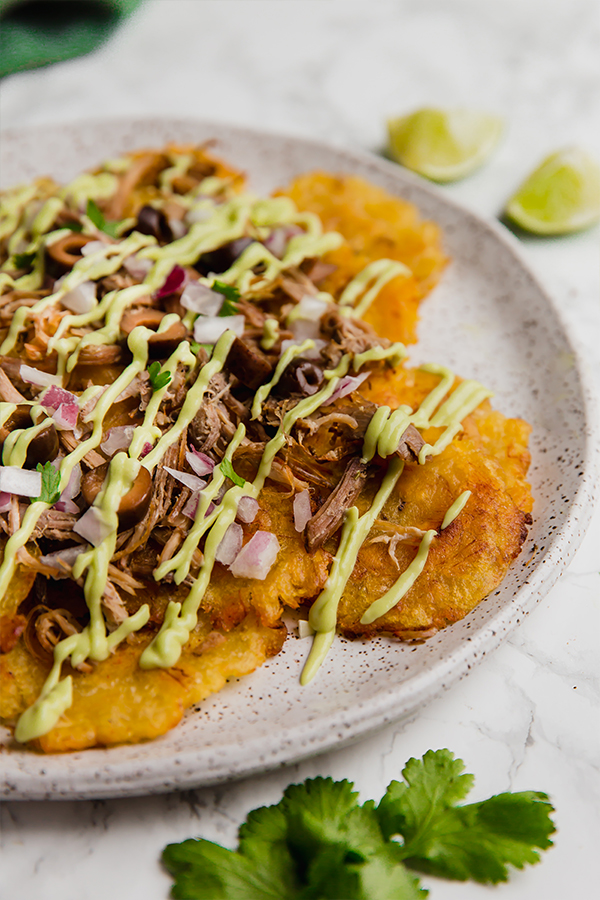Plantain Carnitas Nachos