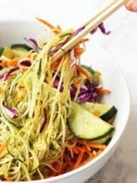Asian Veggie Noodle Bowl (Paleo, AIP, Whole 30)
