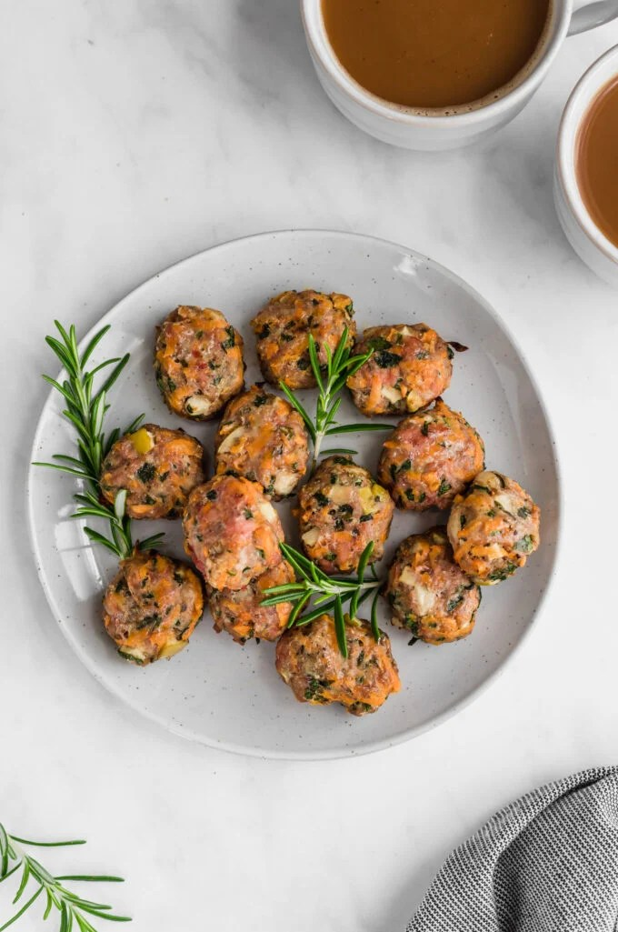 chicken sausage poppers on a plate