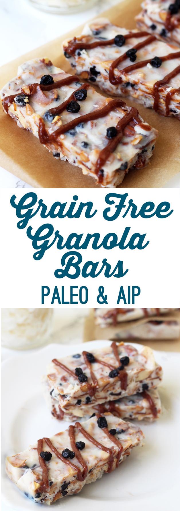 Grain Free Granola Bars (paleo & AIP)