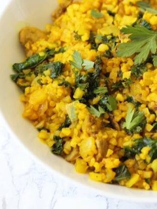Turmeric Cauliflower Risotto