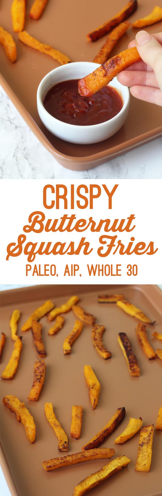 Crispy Butternut Squash Fries (Paleo, Whole 30, AIP)