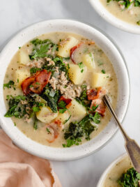Zuppa Toscana in a bowl