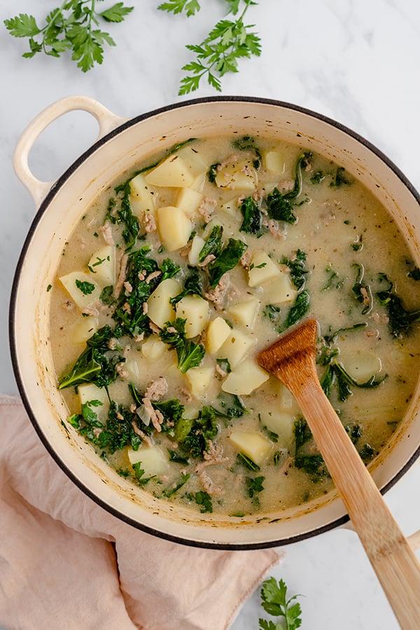 Zuppa Toscana in a Pot