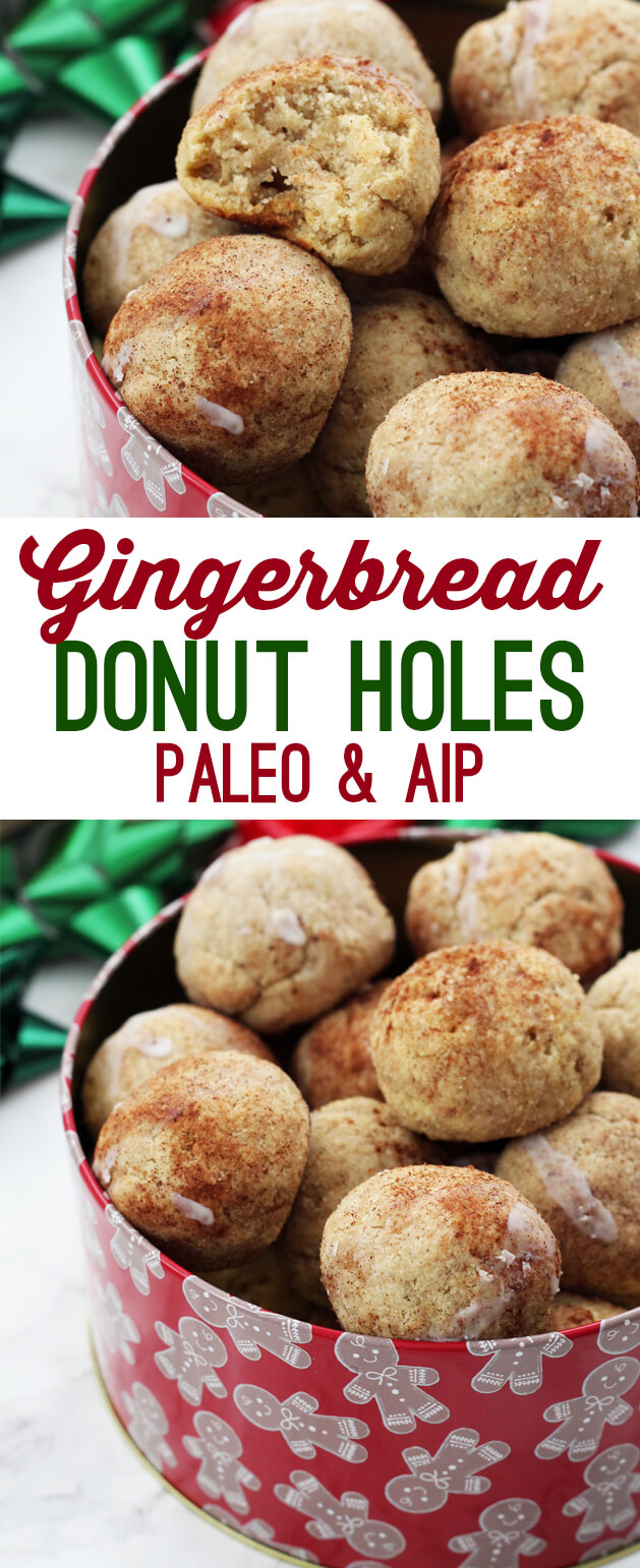 Paleo Gingerbread Donut Holes (AIP)