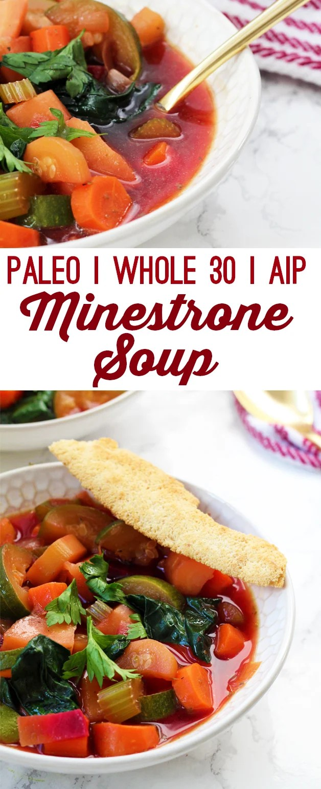Paleo Minestrone Soup (AIP & Whole 30)