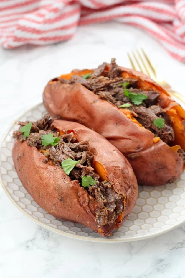 Instant Pot BBQ Stuffed Sweet Potatoes (Paleo, Whole30, AIP)