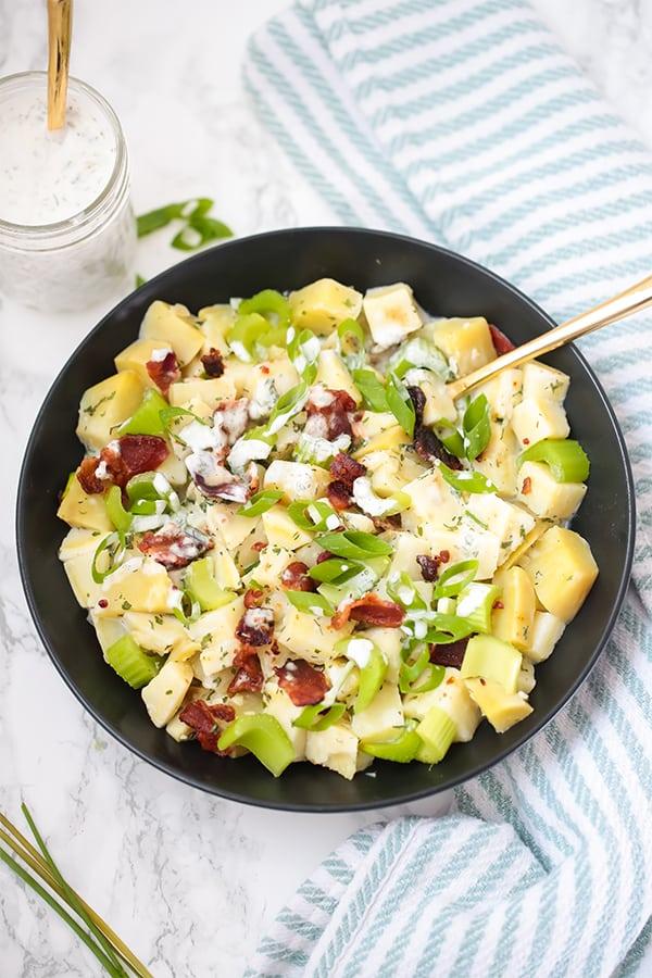 Bacon Ranch Sweet Potato Salad (Paleo, Whole30, AIP)
